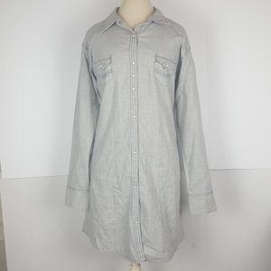 Rock 47 Wrangler Womens XXL Pearl Snap Tunic Dress